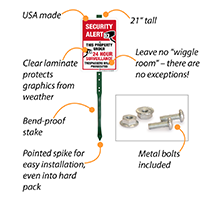 Surveillance signs for home