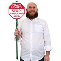 Stop Private Property LawnBoss Sign