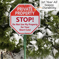 Do not cut across my private property sign