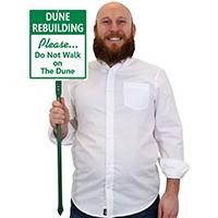 Do Not Walk On The Dune LawnBoss Sign