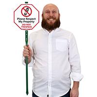 Respect My Property Do Not Trespass LawnBoss Sign