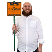 Posted Violators Will Be Prosecuted LawnBoss Sign