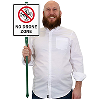 No Drone Zone LawnBoss Sign