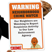 Warning Neighborhood Crime Watch McGruff Signs