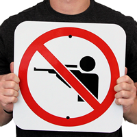 No Hunting With Symbol Signs