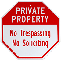 Private Property,Security Sign