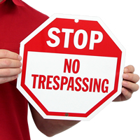 Stop Sign,No trespassing