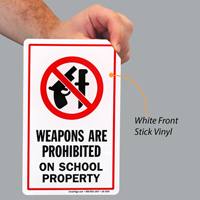 Weapons Prohibited School Property Label