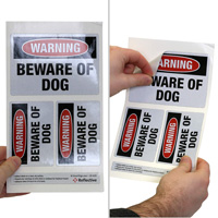 Dog Warning Label