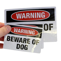 Beware Of Dog Warning Label