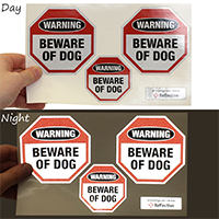 Beware Of Dogs Warning Label Set