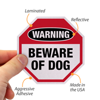 Dog Warning Label Set