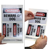 Security Beware of Dogs Label