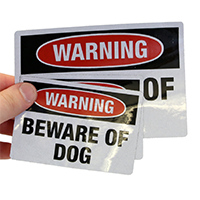Beware Of Dogs Warning Lable