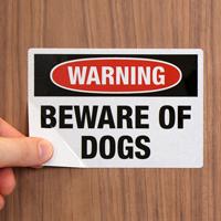 Dog Warning Label Set