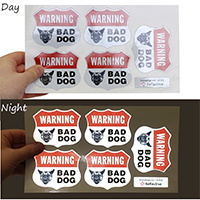 Bad Dog Security Warning label set
