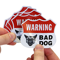 Bad Dog Warning Label set