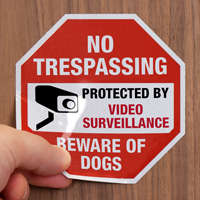 No Trespassing Label Set