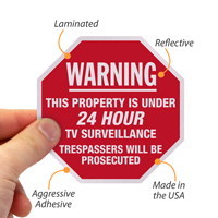 24 Hour Surveillance Label Set