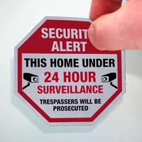 This Home Under 24 Hour Surveillance Label