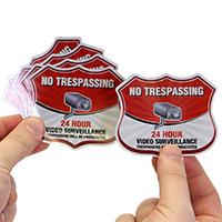 No Trespassing Shield Label Set