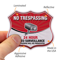 No Trespassing Shield Label Set