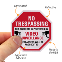 No Trespassing Label