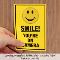 Security Camera Label