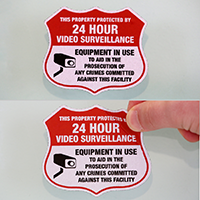 24 Hour TV Surveillance Label Set
