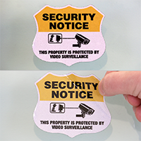 Security Notice Shield Label Set