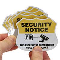 Security Shield Label Set