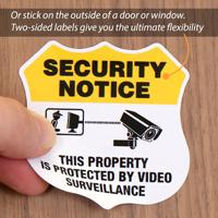 Security Notice Shield Label Set