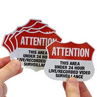 24 Hour Surveillance Label Set