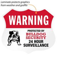 24 Hour Surveillance Shield Label