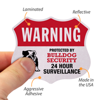 Protected By Bulldog Security Label