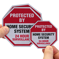 Protected By Home Security System Surveillance Label