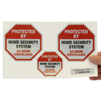 Protected By Home Security System Label