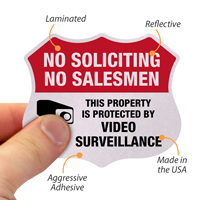 No Soliciting Shield Label Set