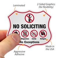 No Exceptions Shield Label Set