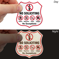 No Soliciting Shield Label