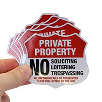 Private Property Shield Label Set