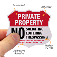 Private Property Shield Label Set