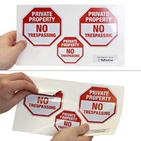 Security Private Property Label Set