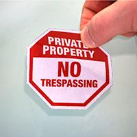 No Trespassing Label Set