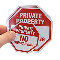 Private Property Label Set