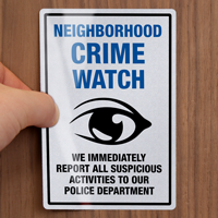 Neighborhood Crime Watch Label Set