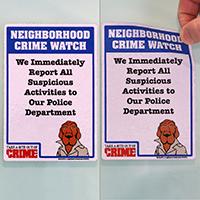 Crime Watch Label Set