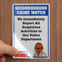 McGruff Neighborhood Crime Watch Label Set