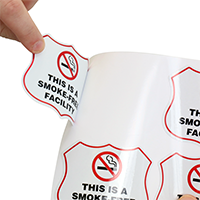 This Is A Smoke-Free Facility 5 Shield Label