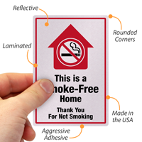 Thank You For Not Smoking Label